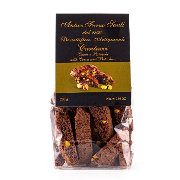 Cantuccini cacao e pistacchi