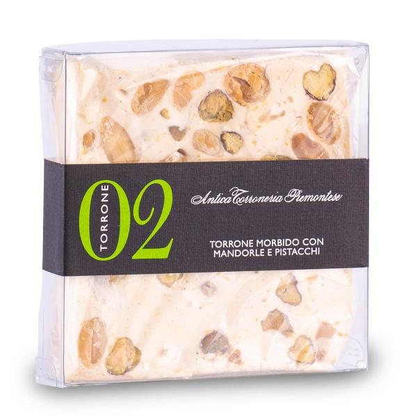 Torrone Pistacchi e Mandorle, 80 g