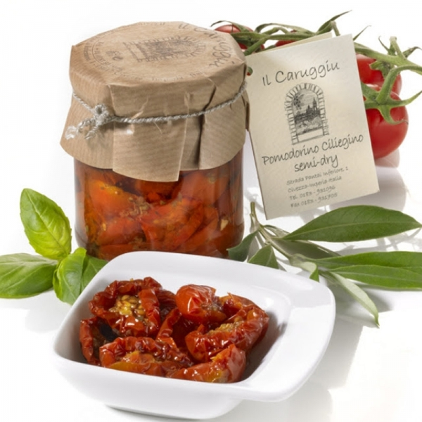 Pomodorini ciliegino semi-dry, halgetrocknete Tomaten